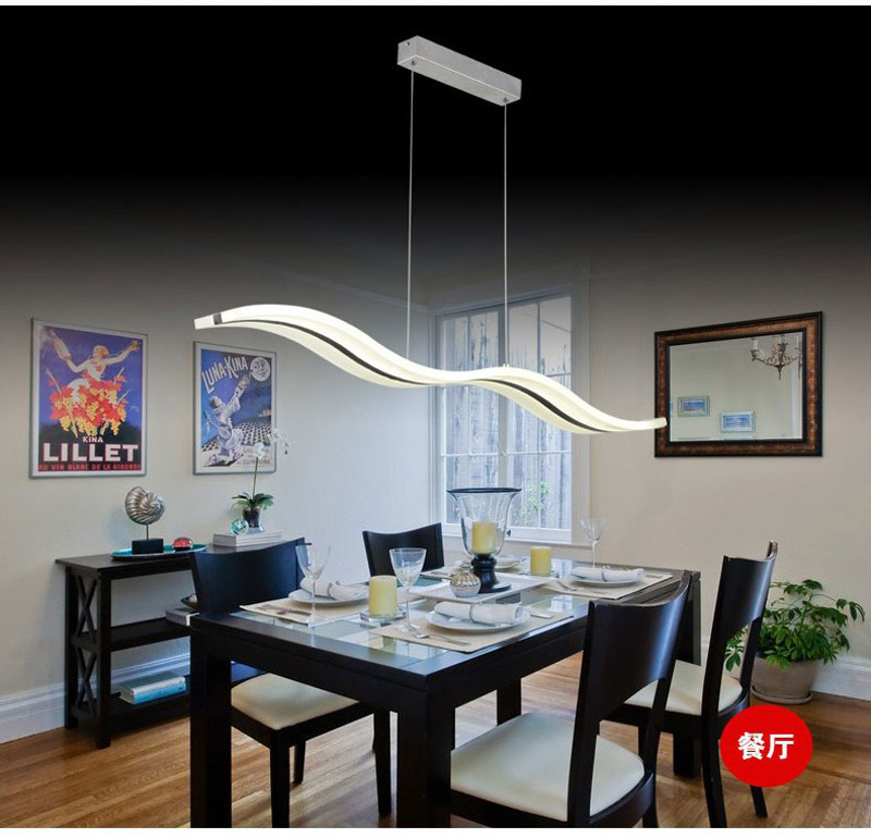 Charming LED Pendant Lights Modern Kitchen Dining Room Acrylic LED Pendant Lamp  Crystal Dining Table 3D Wave Type S Lighting38W TD 4 In Pendant Lights From  Lights ...