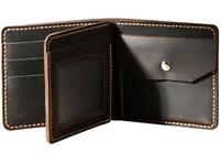 DIY Men Retro Genuine Leather Short Wallets Handmade Boyfriend Dad Gifts Purses Coin Pocket Card Photo Holder Money Clips D534