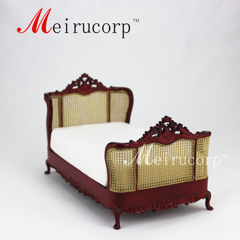dollhouse 112 scale miniature furniture hand carved classical bedroom bedchina mainland - Hand Carved Bedroom Furniture