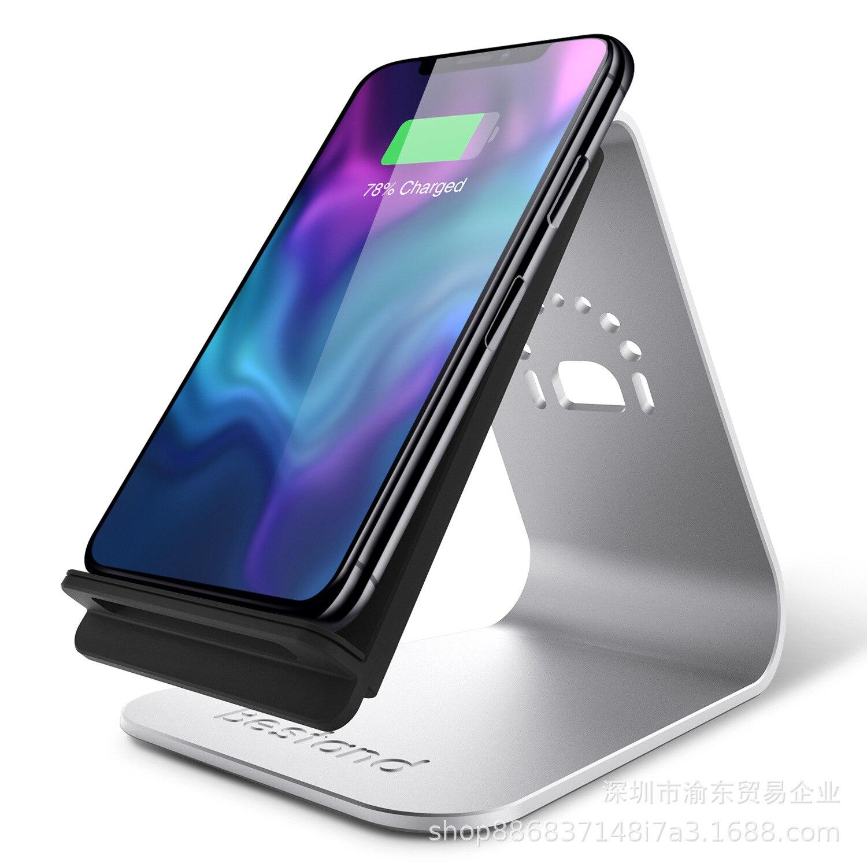 Chargeur sans fil base en aluminium pour chargeur rapide sans fil Station d'accueil pour iPhone XS QI support pour chargeur sans fil berceau