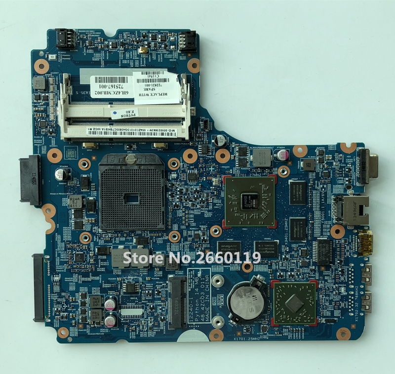 High quality laptop motherboard for 455 G1 450 G2 722821-001 725167-001 48.4ZC03.011 12240-1 Fully tested 744009 501 744009 001 for hp probook 640 g1 650 g1 motherboard socket 947 hm87 ddr3l tested working