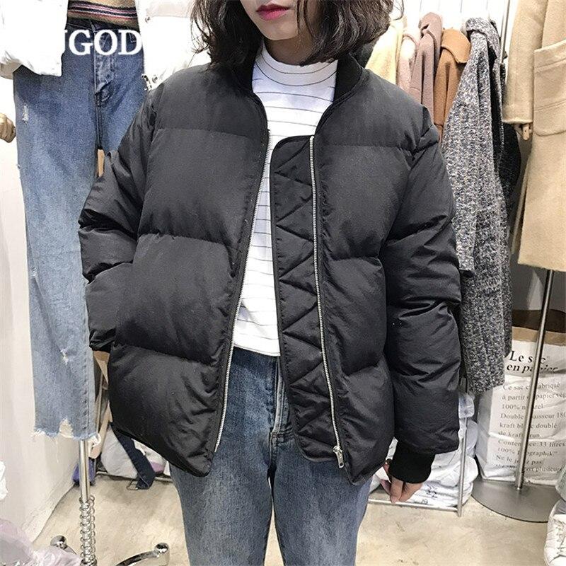 RUGOD New Thick Women Jacket Coat Long Sleeve Solid Cotton Coat Casual Zipper Warm Winter Clothes