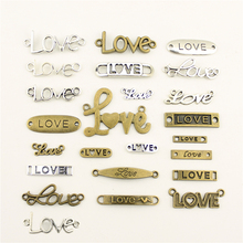 Charms For Jewelry Making Love Text Tag Connector  Accessories Parts Creative Handmade Birthday Gifts