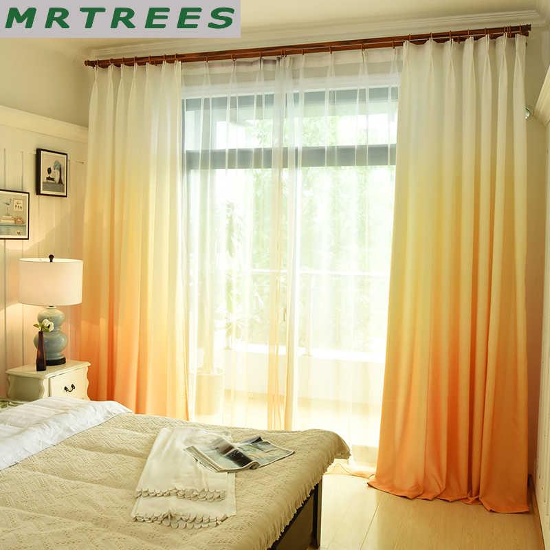 MRTREES Gradienten Blackout Fenster Vorhänge für Wohnzimmer Küche Moderne Tüll Vorhänge für Schlafzimmer Fenster Vorhang Stoff Vorhänge