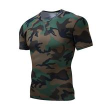 2017 Summer Style Camouflage Compression Shirt Fitness Men Flash Camo T Shirt Bodybuilding Crossfit Tights Cool and breathable
