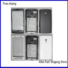 Original Phone Parts For Sony Ericsson Xperia X10 X10i Housing Cover Battery Case+ Keypad Buttons +Logo ,Black / White