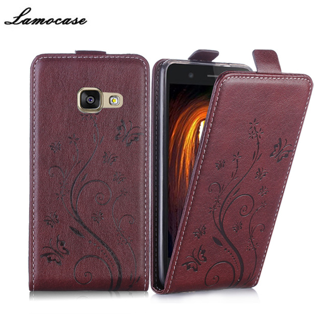 Luxury Brand Embossing PU Leather Case For Samsung Galaxy A3 (2017) SM-A320F Flip Cover Protective Phone Bags JRYH