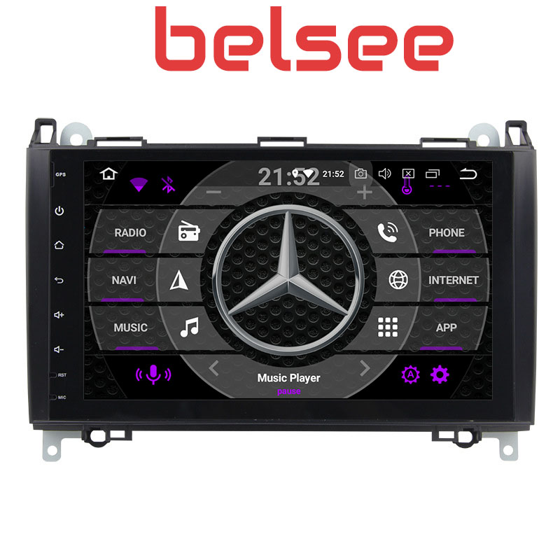 Belsee Octa Core Android 8.0 Head Unit Auto Radio Car <font><b>GPS</b></font> Sat Nav <font><b>Mercedes</b></font> Benz Sprinter Viano Vito B200 B-class W245 <font><b>B180</b></font> W169 image