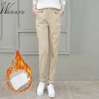 Haute qualité velours côtelé Harem Pantalon femmes nouvelles couleurs solides épais automne hiver Pantalon décontracté et Pantalon Femme Taille Haute