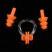 Soft Waterproof Silicone Swimming Nose Clip and Ear Plugs