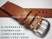 Italy quality Leather watch strap 20mm 22mm for tudor Retro Watch Strap Band Stainless steel buckle for Omega Tissot Seiko Casio