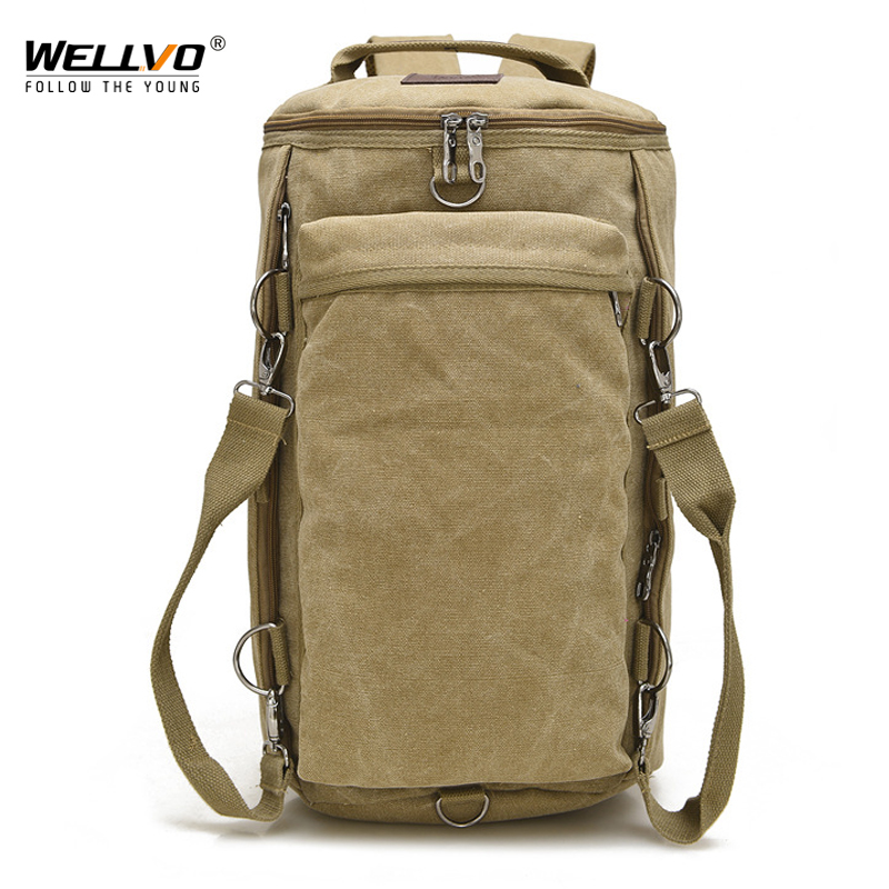 b3e4254f352 Detail Feedback Questions about Vintage Men Travel Bag Large Capacity Travel  Duffle Rucksack Male Carry on Luggage Storage Bucket Shoulder Bags for Trip  ...