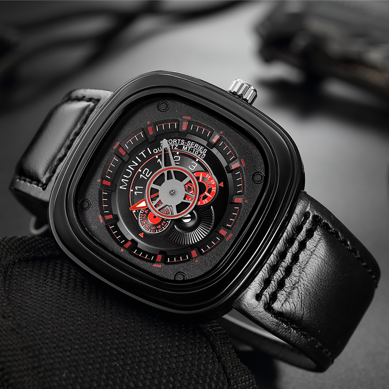 MUNITI Business Quartz Watch Men Watches Top Brand Luxury Casual Male Clock Leather Wristwatch For Man Hodinky Relogio MasculinoMUNITI Business Quartz Watch Men Watches Top Brand Luxury Casual Male Clock Leather Wristwatch For Man Hodinky Relogio Masculino