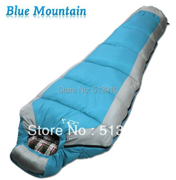 Single Person Thick Mummy Sleeping Bag In Cold Weather Use Lemon And Blue Color Bags From Sports Entertainment On Aliexpress