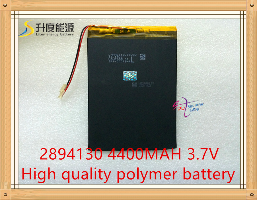 1PCS/Lot <font><b>3.7V</b></font>,<font><b>4400mAH</b></font>,[2894130] PLIB ( polymer lithium ion <font><b>battery</b></font> )Li-ion <font><b>battery</b></font> for tablet pc,e-book,gps,mp4 image