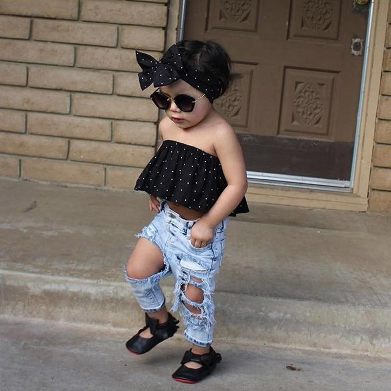 Sınıq Çuxur Şalvar Baby Boys Qızlar Cins geyimlər Moda Qış - Uşaq geyimləri - Fotoqrafiya 6