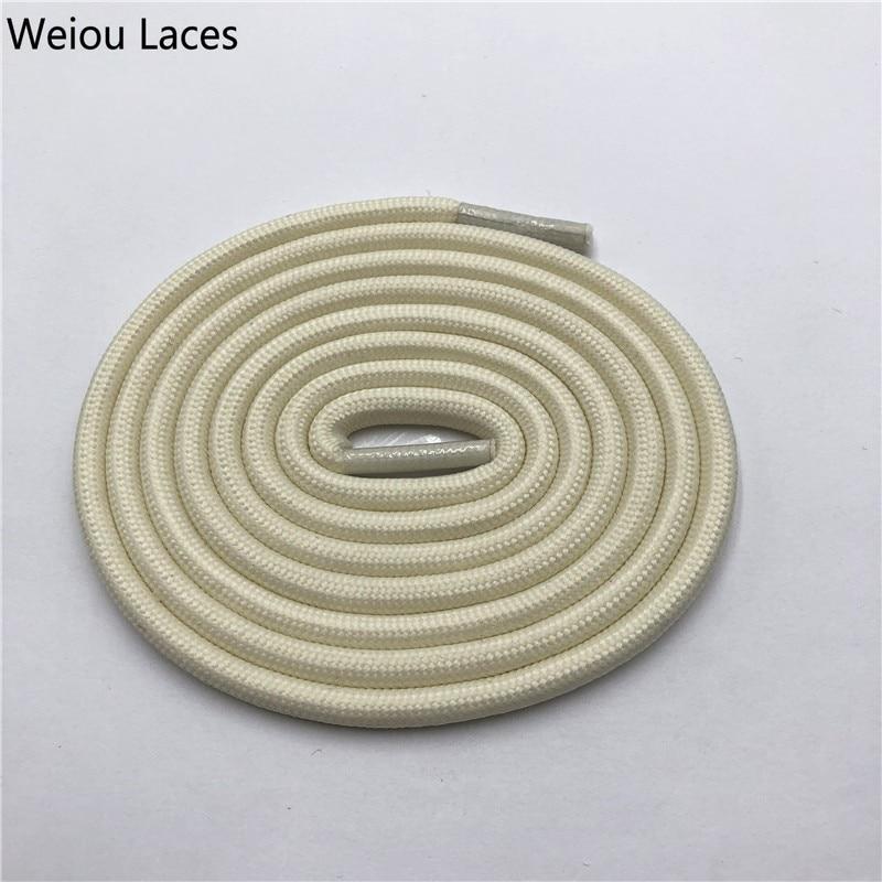 Weiou 0,5 см круглые спортивные шнурки из полиэстера толстые походные шнурки одежда веревка для скалолазания шнурки для ботинок Детские мужские - Цвет: 2709Beige