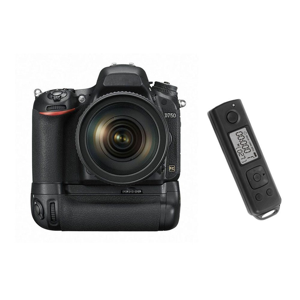 цена на Meike MK-DR750 Built-in 2.4g Wireless Control Battery Grip for Nikon D750 AS MB-D16 Wireless Remote