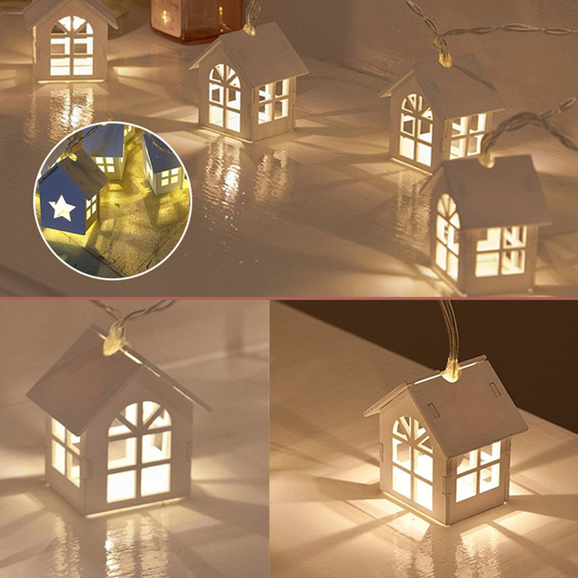 Led String Lights Decorative Fairy For Christmas Home Party Wedding Decal Small House Decoration Battery Night Light