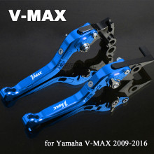 For Yamaha V-MAX VMAX V MAX 2009-2016 CNC Aluminum Foldable Extendable Motorbike Levers Motorcycle Brake Clutch