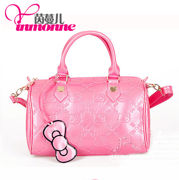 2013 fashion brand hello Kitty jelly candy color import PU material to make 1901 # amphibious lady handbag
