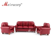 Dollhouse furniture 1/12 scale Miniature red leather Sofa and chair 3 pcs set