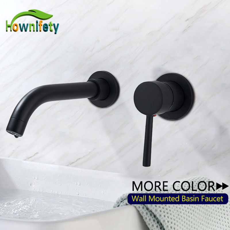 Free Shipping Basin Sink Faucet Connected or Separated Modern Wall Mount Basin hot Cold Mixer Tap