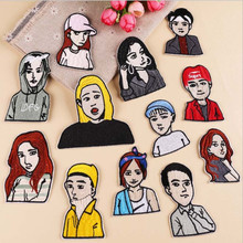 Many people Embroidery Patch for Clothing Iron On Patches Embroidered Sew Fabric Badge Garment DIY Apparel Applique Accessories