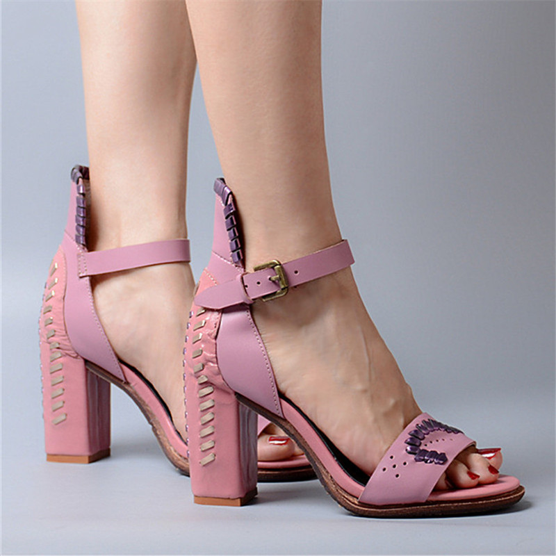 Talon Véritable Perfetto Peep D'été Bal Rose Toe Mignon Rose Cheville Haut Prova Chaussures De Sandales En Cuir Courroie Sandale Femmes Femme pourpre Robe kXOPZuTi