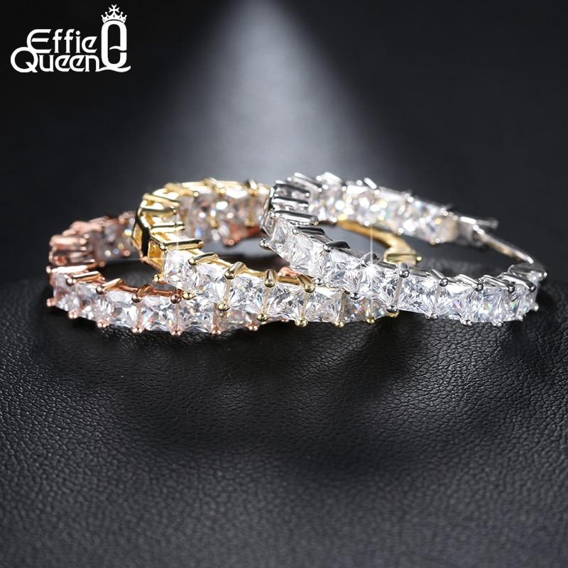 Effie Queen Μεγάλο Στρογγυλό Hoop - Κοσμήματα μόδας - Φωτογραφία 4