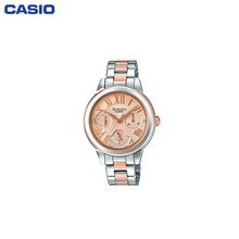 Наручные часы Casio SHE-3059SPG-9A женские кварцевые на биколорном браслете
