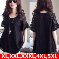 XL XXL XXXL 4XL 5XL Lace Dress 2015 New Plus Size Summer Sexy Women Mini Dress