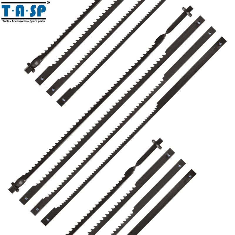 TASP 12pcs 4 105mm Pinned Scroll Saw Blades for Woodworking Wood Sawing mobile sawing
