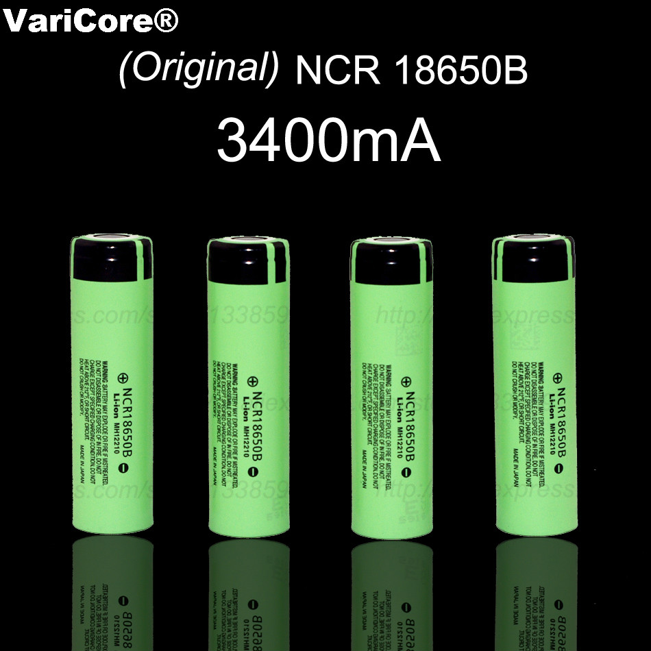 VariCore New Original 18650 NCR18650B Rechargeable Li-ion battery 3.7V 3400mAh For Panasonic Flashlight use + Free shipping