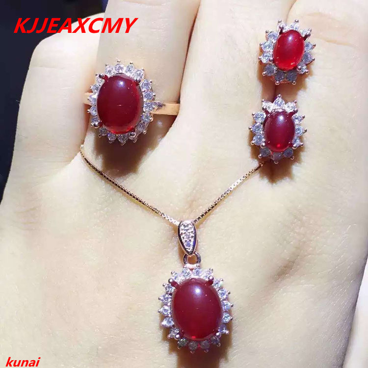 KJJEAXCMY Boutique Jewels 925 Pure Silver Natural Carnelian Female Suit Bag Mail