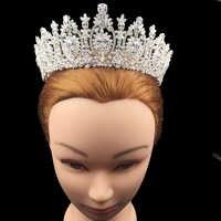 Krone Stirnband Klassische Romantische Design Luxus Zirkonia Elegante Für Frauen Mit Hohe Quallity BC4461 Haar Sieraden Bruiloft