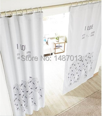 2015 New Cartoon Elephant Print Window Curtain For Living Room Lovely Baby Curtains 130x240cm Half Blackout In From Home Garden On