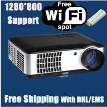 3000lumens 1080P Full HD LED 3D Projector with LED Lamp over 50000hours Life Span 2000:1 Contrast Ratio