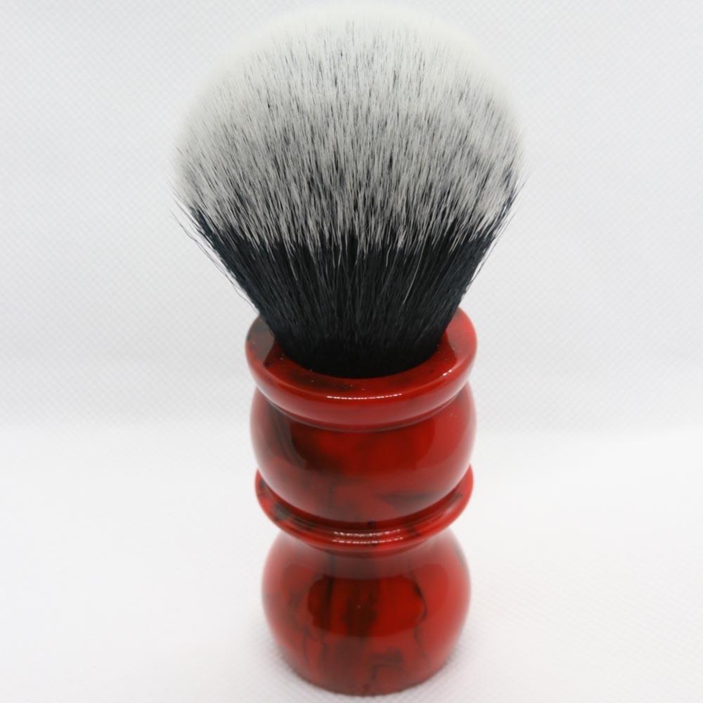 Yaqi Red Marble 24MM Mens Synthetic Hair Beard Brush Shaving Brush