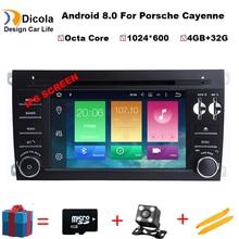 4 + 32 г Android 8,0 авто стерео Мультимедиа для PORSCHE CAYENNE 2003-2010 dvd плеер gps Bluetooth радио устройства Стерео dvd плеер + Navi