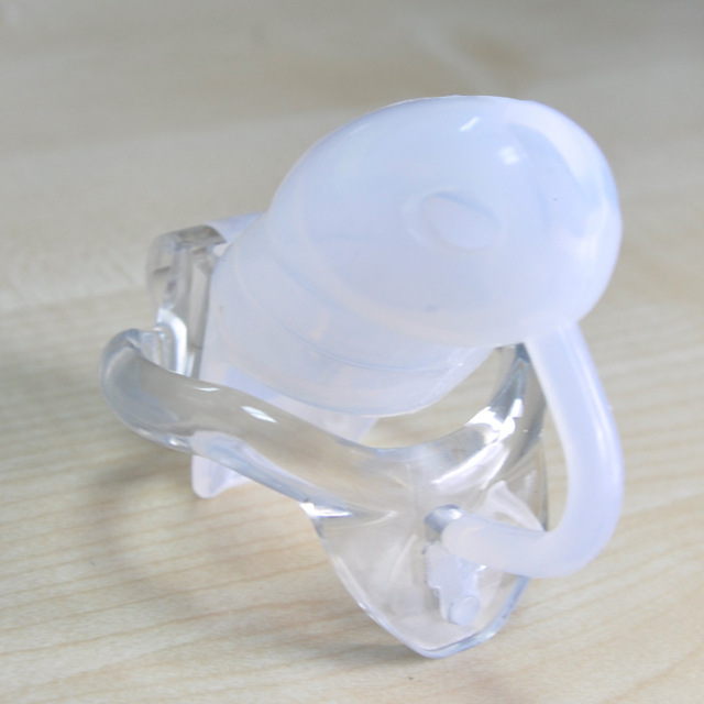 2018 Venta caliente de silicona suave hombre Dispositivo Castidad de Castidad Dispositivo transparente anillo tamaño a 4 pene esclavitud juguetes sexuales para parejas desgaste trayectoria. 089c2f