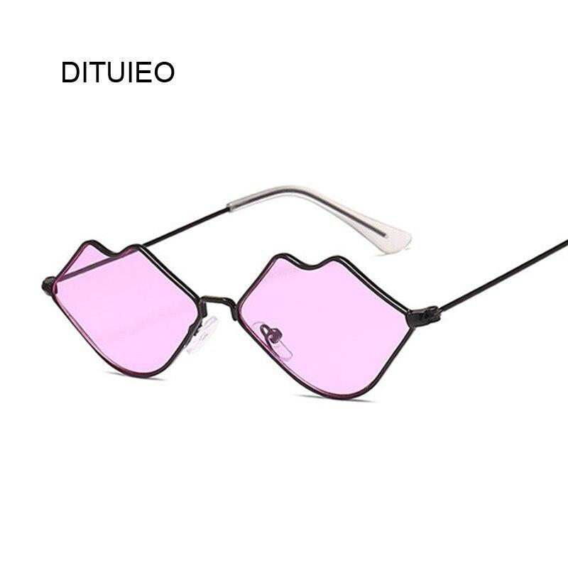 2020 Cute Sexy Ladies Lips Sunglasses Women Metal Frame Fashion Vintage Sun Glasses For Female UV400 Shades