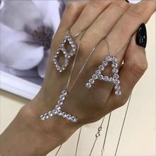 Big Letters in Sparkling Crystals on Neck Pendant Letter Hit Season 2019 925 Sterling Silver Jewelry