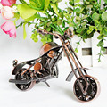 Bronze Color Retro style Long Metal Motocycle Model Car toy for kids