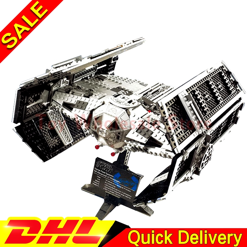Lepin 05055 Star battle Series The Rogue One USC Vader TIE Advanced Fighter Set Building Blocks Bricks lepins Toys Clone 10175 dhl lepin 05055 star series military war the rogue one usc vader tie advanced fighter compatible 10175 building bricks block toy