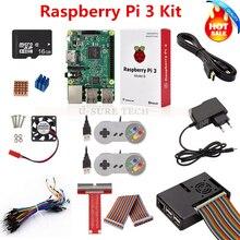 Raspberry Pi 3 b доска + 16 г SD Card + Мощность адаптер + игровой контроллер + HDMI кабель + Чехол + теплоотвод + GPIO кабель + GPIO boaed + мини вентилятор
