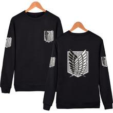 Angriff auf Titan Sweatshirt anime Pullover und Pullover unisex streetwear tops langarm Hoodies casual Pullover Bluse Shirts