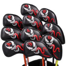 Buy 2019 CHAMPKEY Custom Ghost Golf Iron Head Cover Pack of 10pcs Club Covers directly from merchant!