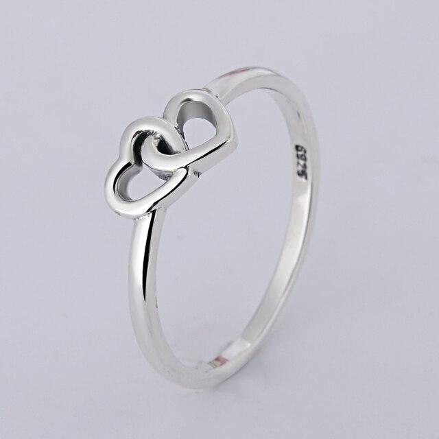 21398daa54d7 A venta al por mayor joyería de moda joyería Pave Setting charm doble  corazón plata 925