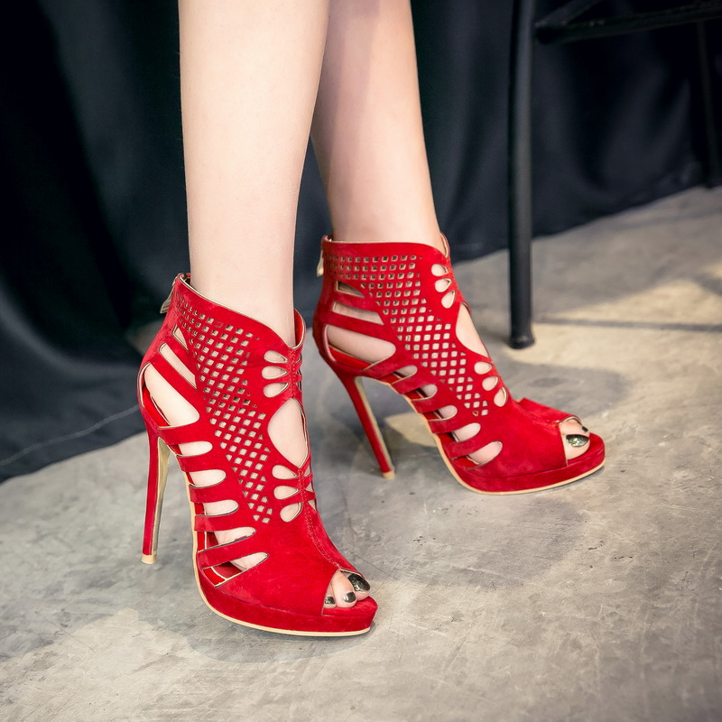 ФОТО Plus Big Size 34-52 shoes women sandals Fashion high heels sandals sapato feminino summer style shoes chaussure femme 588